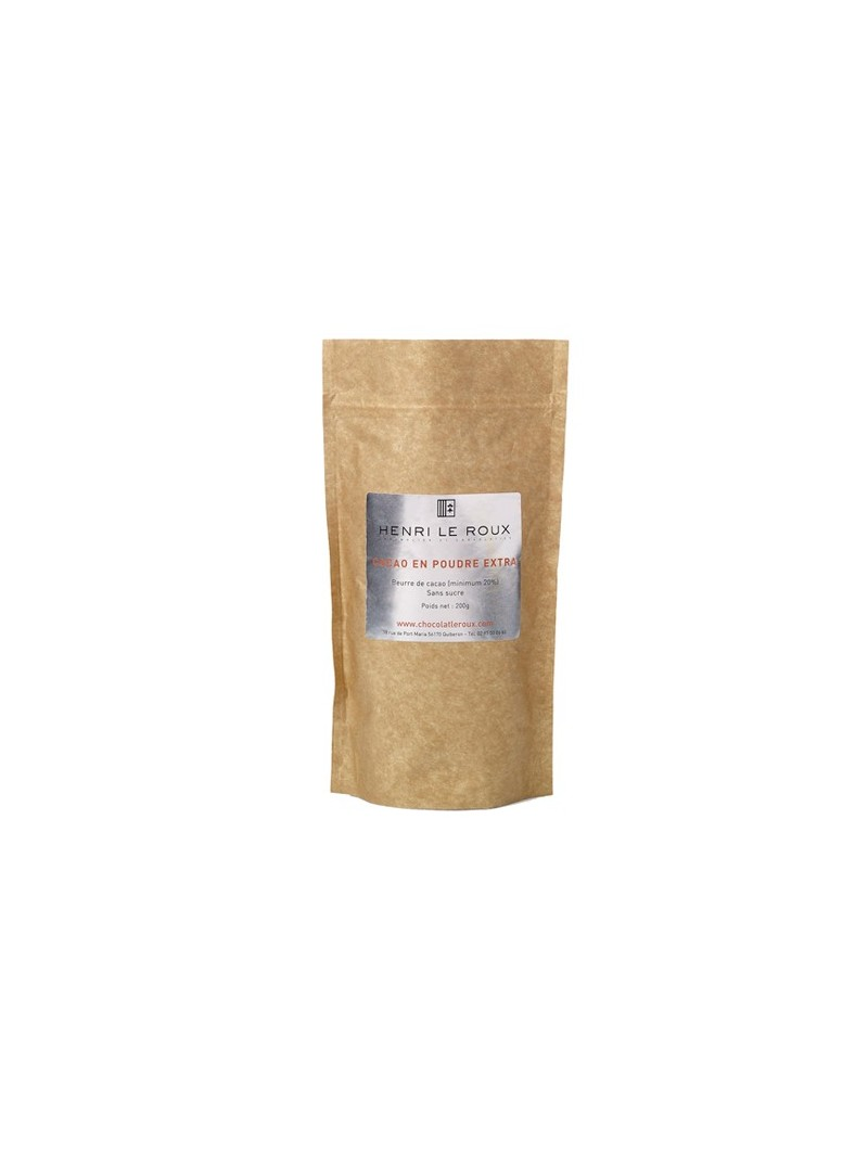 Cocoa powder in a bag