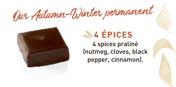 4 spices praline autumn permanent